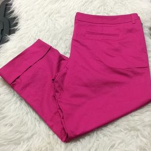 Mossimo pink magenta straight cropped pants